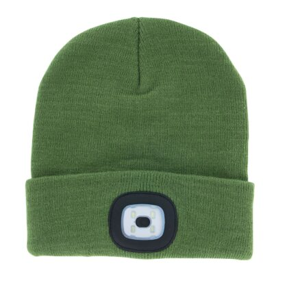 Night scout LED Beanie, olive